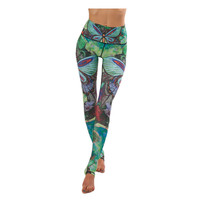 PAINTED BUTTERFLIES - Yoga Pants Breathable Soft