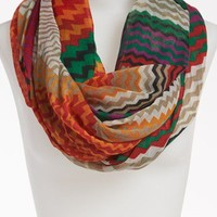 David & Young Geometric Print Infinity Scarf | Nordstrom