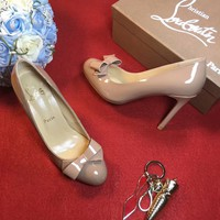 Best Online Sale Christian Louboutin CL 100mm Patent Leather High Heels W06