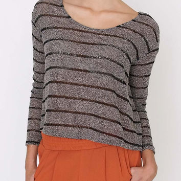 Restless Sweater Top Oatmeal