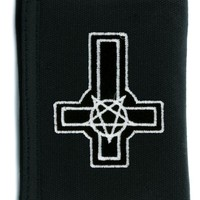 Inverted Cross & Pentagram Tri-fold Wallet w/ Chain Occult Clothing
