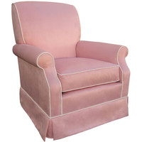 Angel Song 201021194Down Faux Suede Pink Adult Club Rocker Glider w/ Plush Down Cushion
