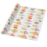 Watercolour Ice Cream - Wrapping Paper