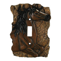REP New Horse Single Switch Plate Cover