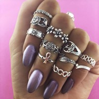 Shiny Jewelry Gift New Arrival Stylish Vintage Floral Twisted Ring [11790884687]