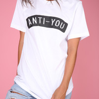 Anti-You Graphic Unisex Tee