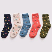 Winter new fashion Korea creative cartoon life food sushi watermelon male and female short tube cotton socks