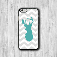 iPhone 6 Case - Grey Geometric Mint Deer iPhone 6 Plus, Animal Printed Art Shadow Phone 5S, iPhone 5 Case, iPhone 5C Case, iPhone 4S Hipster