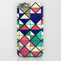 Colorful grid iPhone & iPod Case by Tony Vazquez
