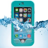"iPhone 6 Case,iPhone 6 New Waterproof Case,Sophia Shop Touch ID IP-68 Waterproof Dirtproof Snowproof Triple Layer Kick-Stand Armor Durable Full Sealed Protection Case Cover for Apple iPhone 6 4.7""+ with Free Screen Protector (Green)"