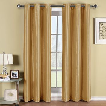 GOLD Soho Grommet Thermal coating Blackout Window Curtain Panel (Single Panel)