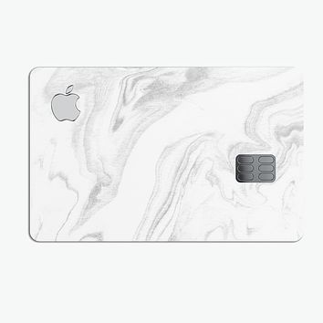 Gray 65 Textured Marble - Premium Protective Decal Skin-Kit for the Apple Credit Card