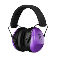 Buckmark II Hearing Protector, Purple, For Her, Comfortable Shooting Ear Muffs, Browning Knives Product