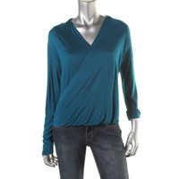 Two by Vince Camuto Womens Knit Drapey Pullover Top