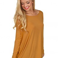 PIKO Dark Mustard Love On Top Tunic | Monday Dress Boutique
