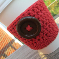 Eco Friendly, Crochet Coffee Sleeve, Reusable, Ready to Ship