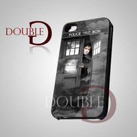 Doctor Who David Tennant Tardis - iPhone 4/4s/5 Case - Samsung Galaxy S3/S4 Case - Black or White
