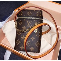 LV Phone Box Classic Prestige Logo Chain Bag Phone Bag Messenger Bag