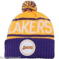 Los Angeles Lakers Mitchell and Ness Cuffed Knit Hat