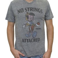 Pinocchio No Strings Attached Vintage Triblend - Men's New Arrivals - All - Junk Food Clothing
