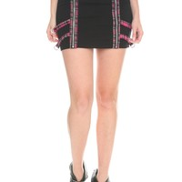 Tripp Blank And Pink Plaid Zipper Skirt Size : Small