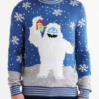 Tipsy Elves Mistletoe Crew Neck Sweater- Blue