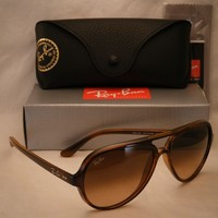 Ray Ban 4125 CATS 5000 Striped Havana w Pink Brown Gradient Lens (RB4125 710/A5)