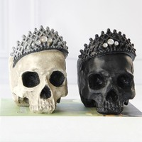 Skull Skulls Halloween Fall  Resin Craft Statues For Decoration Creative Ornaments Home Decoration Accessories  Figurines Sculpture Calavera