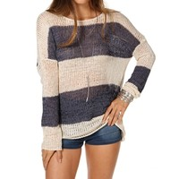 Navy/White Wide Stripe Sweater