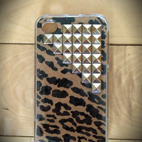 Cheetah studded iPhone 4/4s or 5 case