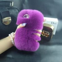 Luxury Rabbit Fur iPhone Case for iPhone 5/5s/6/6s/6 Plus/6s Plus