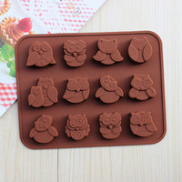 Kitchen Helper Hot Deal Home On Sale Easy Tools Silicone Owl Ice Maker Mould [11499080847]