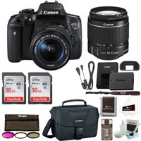 Canon Rebel T6i Digital SLR Camera with 18-55mm Lens + 32GB Memory + Canon 100ES DSLR Bag + 3pc Filter Kit + Promotional Holiday Bundle - Walmart.com