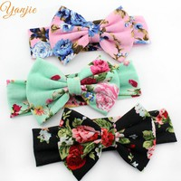 Floral Cotton Infantile Headband Girl Hair Accessories