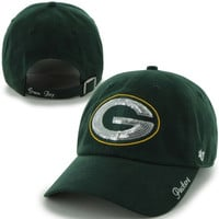 47 Brand Green Bay Packers Ladies Sparkle Slouch Adjustable Hat - Green
