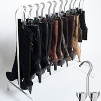 Best Selling Boot Organizer: The Boot Rack Garment & Boot Storage- Fits in Most Closets (The Boot Rack with 6 Silver Hangers)