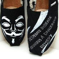 Guy Fawkes - CUSTOM TOMS SHOES