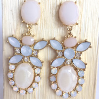 Ivory Tropical Crystal Earrings