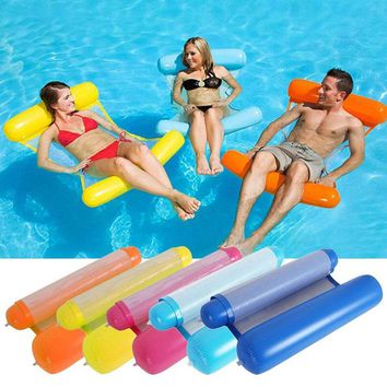YUYU 2018 new water inflatable lounge chair float swimming float pool float water hammock lounge bed for swimming
