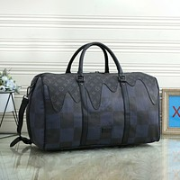 Louis Vuitton LV men's and women's print fashion travel business trip hand luggage bag