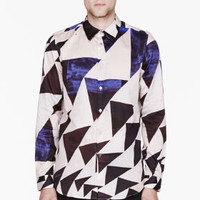 Paul Smith  Purple Mottled Triangle Print T-shirt for men | SSENSE