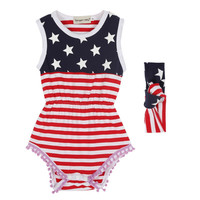 new-baby-girl-romper-stars-printed-jumpsuit-with-headband-set-born-rompers BBL