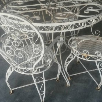 Wrought Iron Chairs On Wanelo