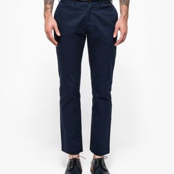 General Assembly Navy Washed Twill Pant