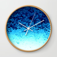 Blue Crystal Ombre Wall Clock by 2sweet4words Designs