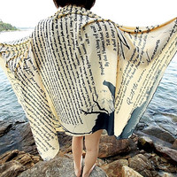 The Raven Edgar Allan Poe Scarf - Cream