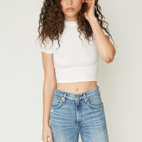 Uptown Mock Neck Top - White