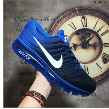 """""""NIKE"""" The new lightweight mesh running shoes sneakers Blue"""