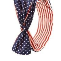 Blue Combo Americana Print Wired Headband by Charlotte Russe
