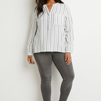 Plus Size Classic Striped Shirt | Forever 21 PLUS - 2000172245